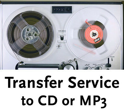 """3 inch Reel to Reel 1/4"""" Audio Tape Transfer Convert Copy to CD + Hiss reduction"""
