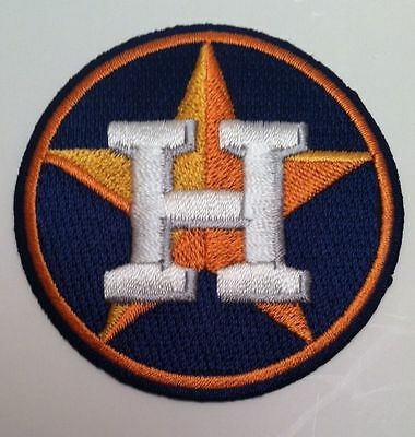 """Houston Astros Baseball club Vintage Embroidered Iron On Patch 2.5"""" x 2.5"""