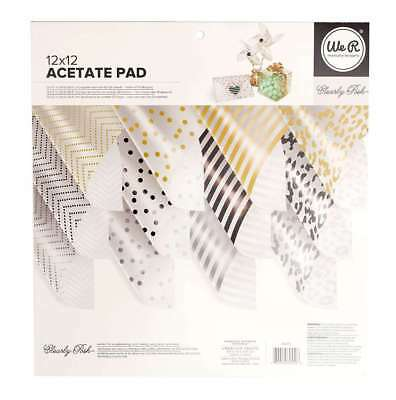 American Crafts We R Memory Keepers Printed Acetate Pad 12 x 12 Paper Sheets
