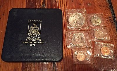 1970 Bermuda Mint Uncirculated Set First Decimal Coins With Box