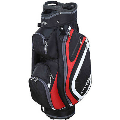 Pro FX Turnberry Deluxe Golf Bag - Black/Grey/Red