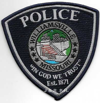 "Williamsville, MO - 1871 (4.5"" x 4.5"" size) shoulder police patch (fire)"