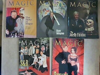 Magic Independent Magazine Magicians 5 Issues Siegfried Roy Ricky Jay Collectors