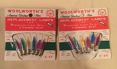 Vintage Screw In Miniature Midget Light Bulb Replacement Woolworth Lot