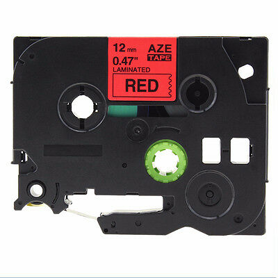 New TZ-231 Black on Red Laminated Label Tape 12mm Compatible to Brother TZe231.