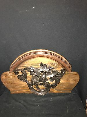 "1930's 23 3/4"" Carved Wood Pediment"