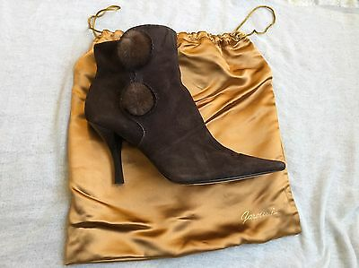 a379832540f GAROLINI Lord   Taylor Womens Brown Suede Leather Ankle Boots Booties ...