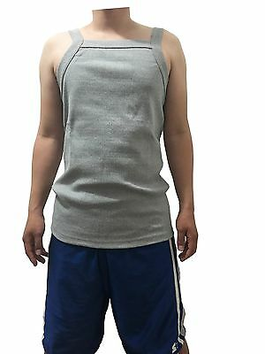 G UNIT Square Cut Ribbed Tank Top Undershirt Wife Beater Mens Cotton Gray L