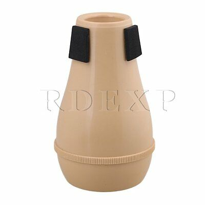 13.2x8x4.3cm Wood Color ABS Plastic Alto Trombones Mute Silencer Part