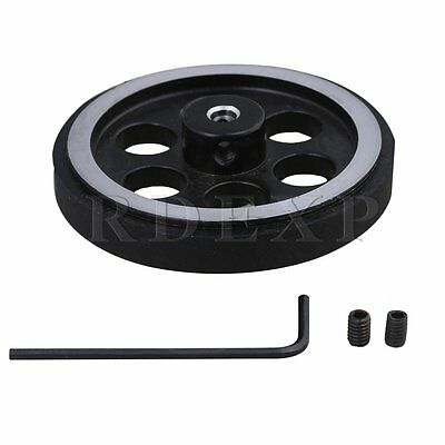 200mm Aluminum Rubber Meter Encoder Wheel for Rotary Encoder 4mm Bore Dia