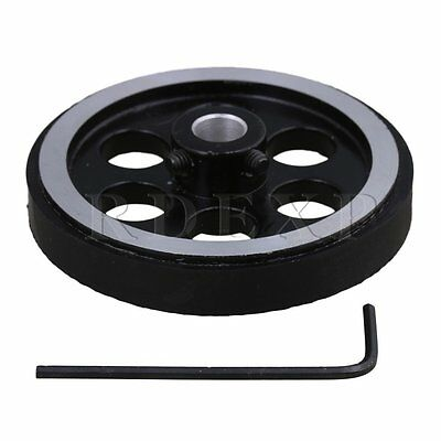 200mm Aluminum Rubber Meter Encoder Wheel for Rotary Encoder 8mm Bore