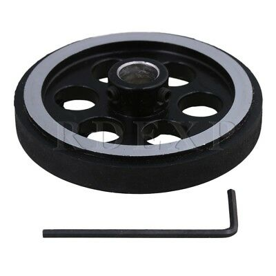 200mm Aluminum Rubber Meter Encoder Wheel for Rotary Encoder 10mm Bore
