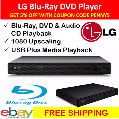 LG Blu Ray Player HDMI USB Media Blue Ray DVD CD Disc Players HD Movies Region B
