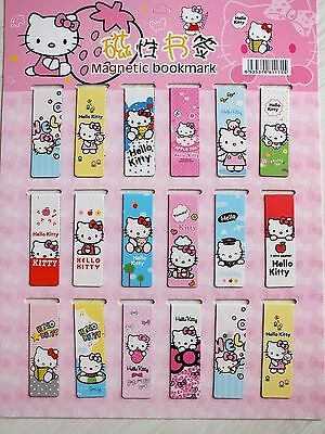 Japanese 18 Color Hello Kitty Magnetic Bookmark Birthday Children Party Gift A4