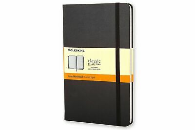 Moleskine Classic Hard Cover Notebook, Large, RULED, Black - NEW - Free Shipping