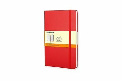 Moleskine Classic Hard Cover Notebook, Large, RULED, Red - NEW - Free Shipping