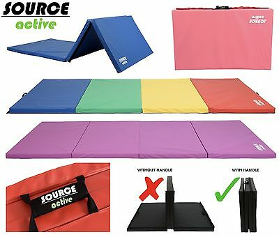 10FT Folding Gymnastics Tumble Mat Yoga Exercise Fitness Pilates Gym Martial Art