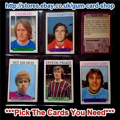 A&Bc 1971 Purple Back 2Nd Series (Good 165 To 219) *Pick The Cards You Need*