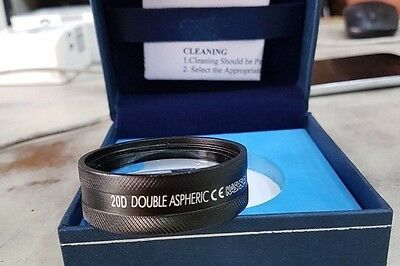 20D Double Aspheric Lens Ophthalmology & Optometry In Case Free Ship