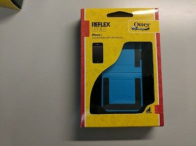 New! Authentic Otterbox Reflex series Teal Blue/Black  case for iPhone 4