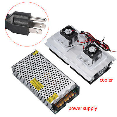 Dual-Core Thermoelectric Peltier Refrigeration Air Cooling Cooler + Power Supply