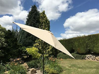 Large Metal Garden Parasol Umbrella Crank and Tilt 10 Colours 2.7m 3m 3.5m