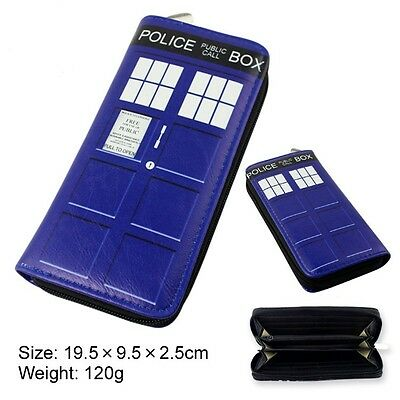 Unisex Doctor Who Tardis Buckle Slouch Bag Dr Who POLICE BOX Long Purse Wallet