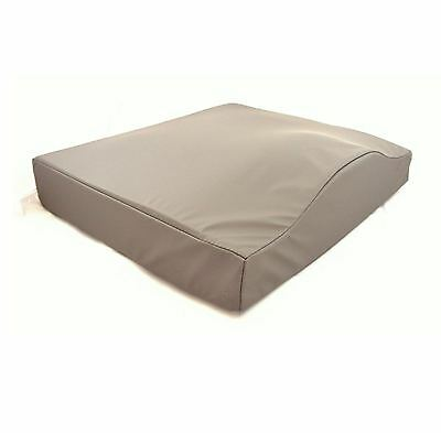 "Drive Contoured 18x16x3"" Gel Wheelchair Cushion with Grey Waterproof Cover"