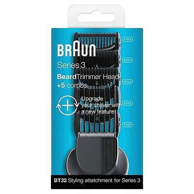 Braun BT32 Series 3 Electric Shaver Beard Trimmer Combs & Trimmer Attachment New