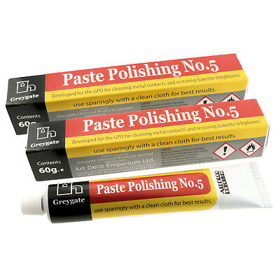 Hard Plastic and Vintage Bakelite Renovation Polishing Paste (2 tubes of 60g)