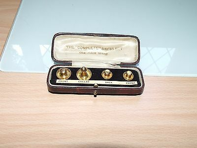 vintage 9 ct gold gents shirt collar studs in original box