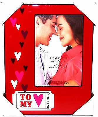 "NEW Sonoma TO MY HEART Love Ticket 4""X6"" FRAME Kohl's for LOVE /  VALENTINES DAY"