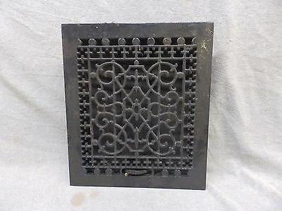 Antique Cast Iron Heat Grate Vent Register Old Design Decorative 1214 121-17p