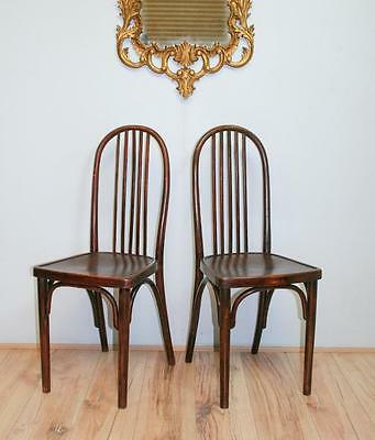 Pair Thonet Bentwood Chairs att Josef Hoffmann - kitchen cafe occasional Kohn