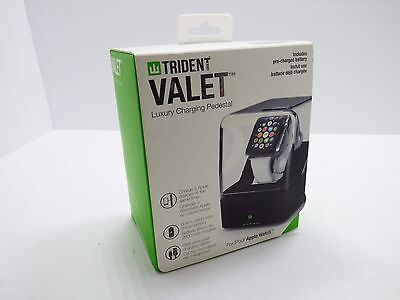 Trident  Valet Portable Luxury Charging Pedestal for Apple Watch 38mm 42mm Black