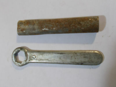 Vintage; 19mm Wrench w/extension Handle* Japan Bike Motorcycle/Box End Tool;