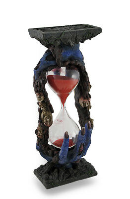 Bloody Zombie Hands Holding Hour Glass Statue Sand Timer