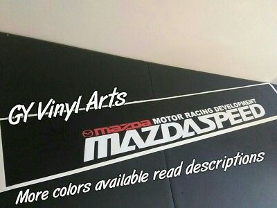MAZDASPEED Windshield Sun Visor Strip Decals Cars Stickers Banners