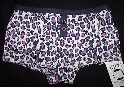 Girls Boxer Shorts Knickers Marks & Spencer Animal Print Pink Mix Purple