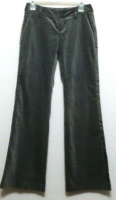 New+Tags!  Banana Republic Ladies French Gray Brushed Cotton Vevet Pants - Sz 0