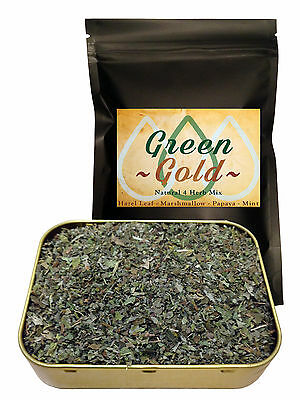 Natural Greengo 4 Herb Mix papaya, hazel leaf 'Green Gold' herbal blend - 12.5g