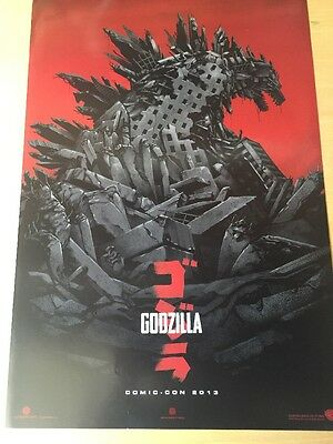 Godzilla Variant by Phantom City Creative SDCC 2013 Mondo Movie Poster 13 X 20