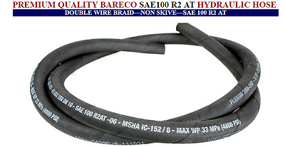 Hydraulic Hose - 1/4, 3/8, 1/2 and 3/4 inch sizes