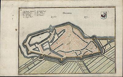 Hoorn North Holland Netherlands Dutch East India Company c.1640 old antique map