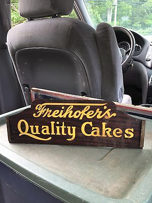 "1940's 14 3/8"" Freihofers Quality Cakes Sign"
