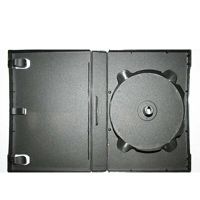 15 Pieces 27mm 12 Disc Stackable Black DVD Case 1 Hub Stackable Up To 12 Discs