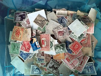 50 Pre decimal MIXED STAMPS OFF PAPER all different