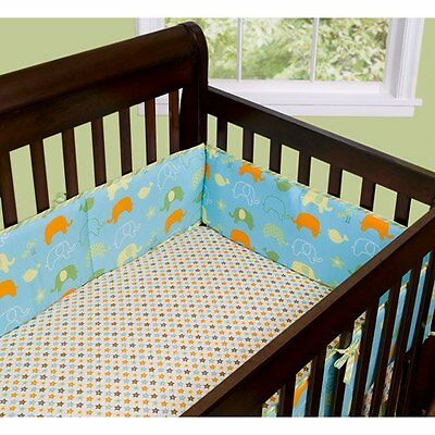 NEW! Step By Step Baby Crib Bumper Best Friends Z062 Machine Wash 100% Polyester