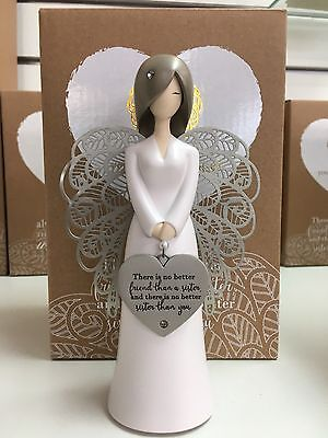 You are an angel figurine SISTER New in Gift Box