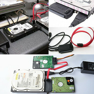 Hard Drive HD HDD Converter Adapter Connection Cable USB 2.0 to SATA IDE 2.5 3.5